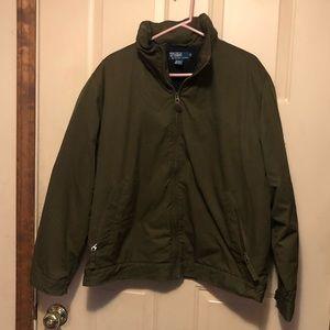 Polo by Ralph Lauren Men's Olive Green Hooded Coat